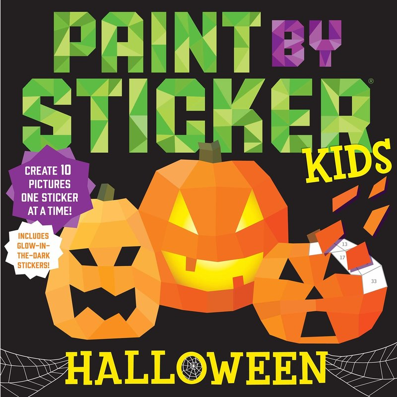 Workman Publishing Paint by Stickers Kids :Halloween