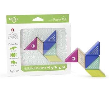 Tegu Magnetic Wooden Blocks Travel Pals Hummingbird