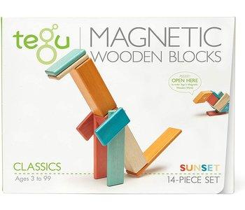 Tegu Magnetic Wooden Block 14pc Sunset