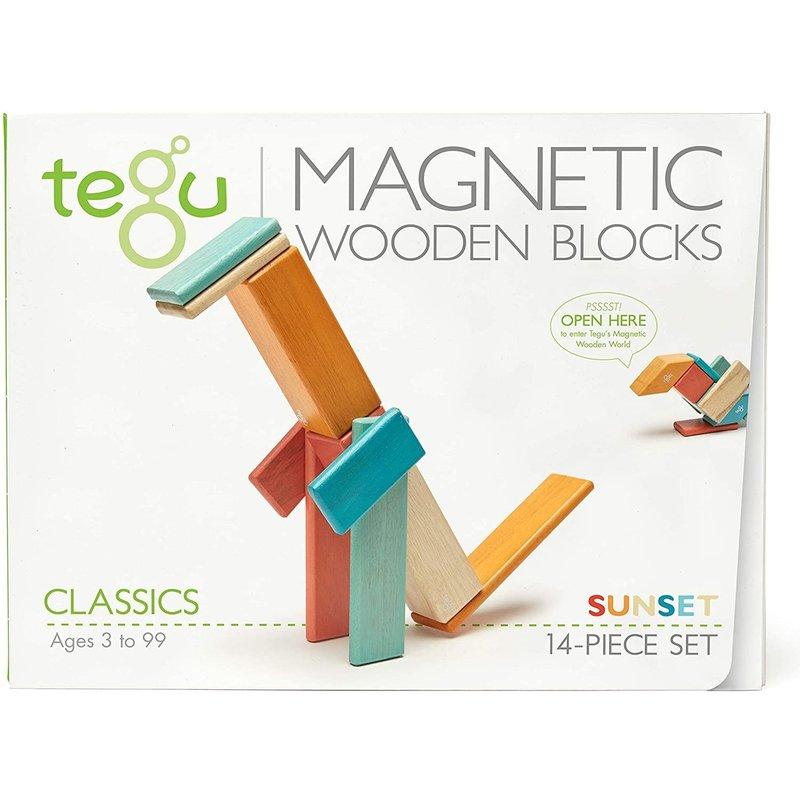 Tegu Tegu Magnetic Wooden Block 14pc Sunset