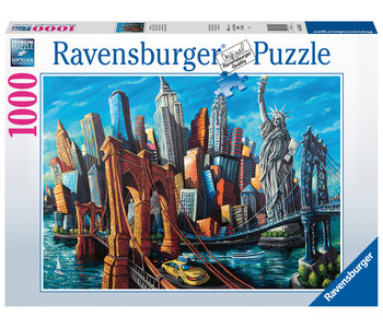 Ravensburger Puzzle 1000pc Welcome to New York
