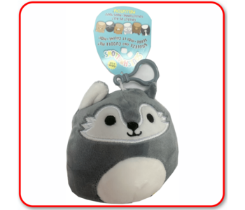 """Squishmallow 3.5"""" Clip Willy the Wolf"""