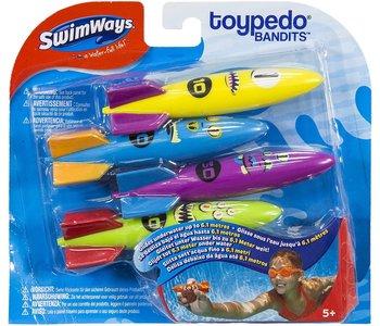 Swimways Toypedo Bandits 4pk