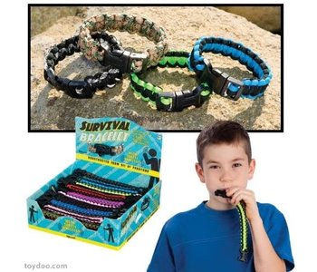 Outdoor Discovery Survival Bracelet with Whistle