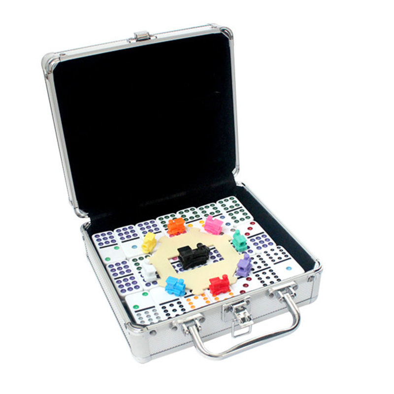 Mind Matters Double 12 Dots Mexican Train Dominoes in Case