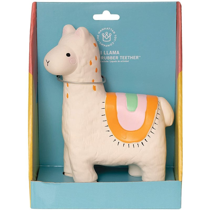 Manhattan Toy Natural Rubber Teether Lili Llama