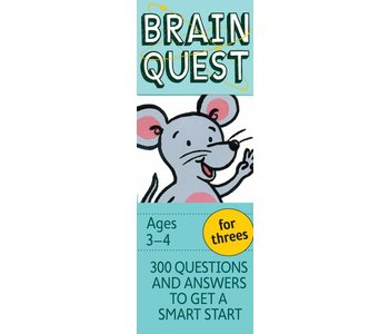 Brain Quest For Threes Ages 3-4