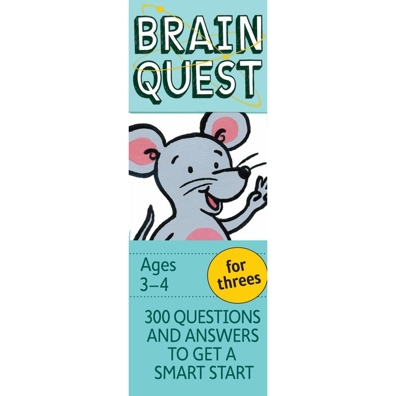 Workman Publishing Brain Quest For Threes Ages 3-4