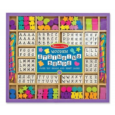 Melissa & Doug Melissa & Doug Craft Wooden Stringing Beads Alphabet