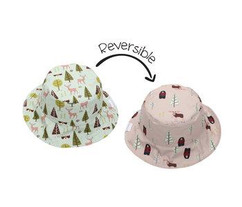 FlapJackKids Reversible Sun Hats  Moose/Cottage 0-6mths