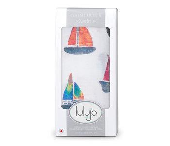 Lulujo Muslin Swaddle Sailboat