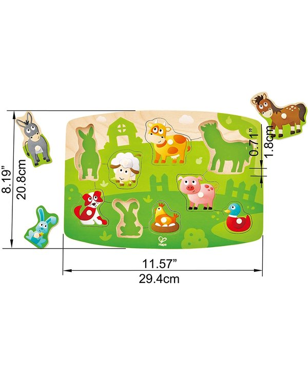 Hape Peg Puzzle Farmyard