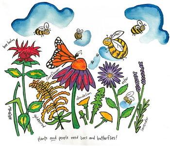 Artburn Pillowcase Pollinator, garden design