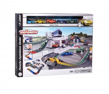 Majorette Porsche Deluxe Center with 5 Cars