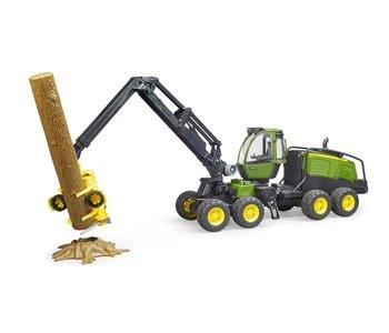 Bruder John Deere Timber Harvester with Log