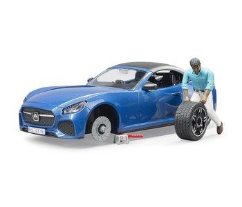 Bruder Blue Roadster with Driver
