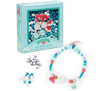 Djeco Wooden Beads Little Animals