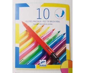 Djeco Felt Tip Brush Pens Pop