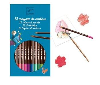 Djeco Watercolor Pencil Crayons
