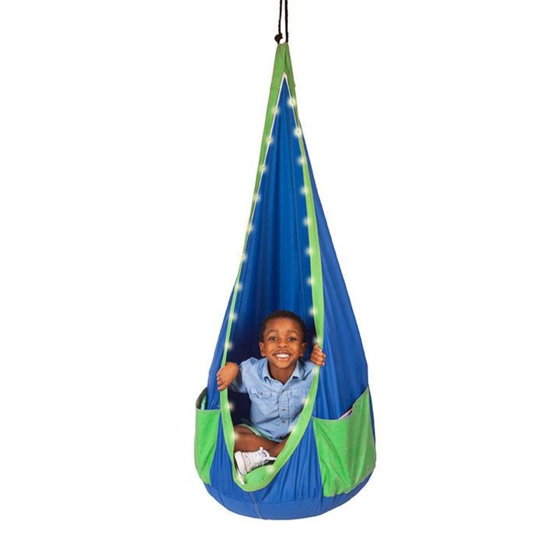Slackers Playzone-Fit Ultimate Sky Hanging Chair Blue