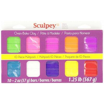 Sculpey III Sampler Pack Bright