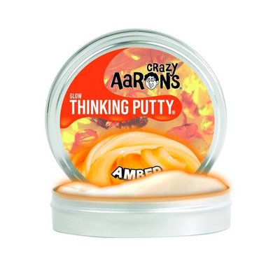 Crazy Aaron Crazy Aaron's Thinking Putty Glow in the Dark Amber