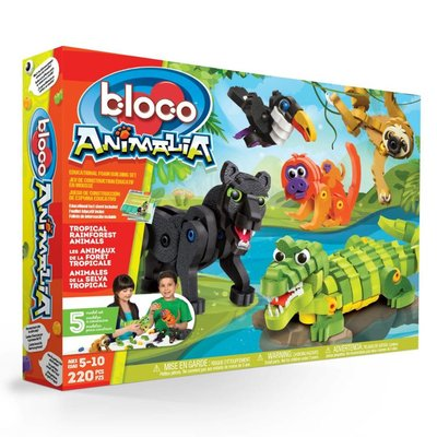 Bloco Bloco Animalia Tropical Forest Animals
