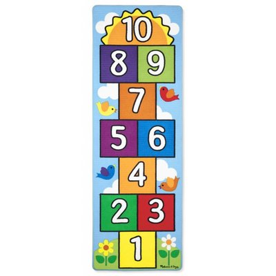 Melissa & Doug Melissa & Doug Game Rug Hop & Count Hopscotch