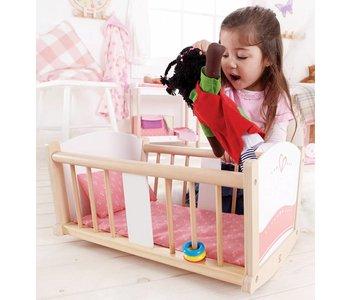 Hape Doll Furniture Wood Cradle