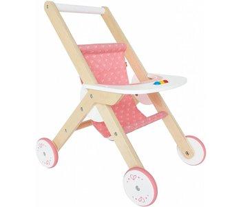 Hape Doll Furniture Wood Stroller