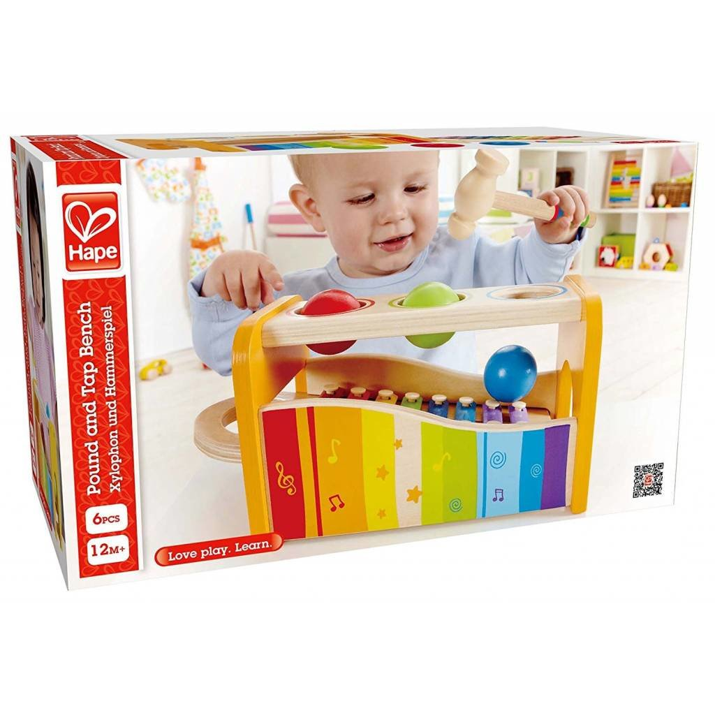 Hape Toys Early Melodies Pound and Tap Bench