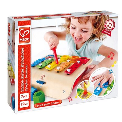 Hape Toys Hape Early Melodies Shape Sorter Xylophone