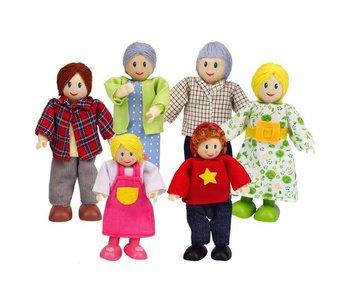 Hape Doll House Happy Family Caucasian
