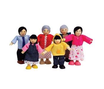 Hape Doll House Happy Family Asian