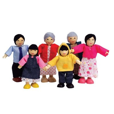 Hape Toys Hape Doll House Happy Family Asian