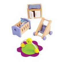 Hape Toys Hape Wooden Doll House Furniture: Baby's Room