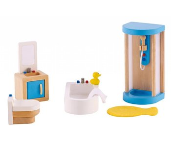 Hape Wooden Doll House Furniture: Bathroom