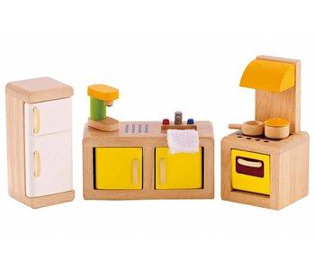 Hape Wooden Doll House Furniture: Kitchen