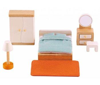Hape Wooden Doll House Furniture: Master Bedroom