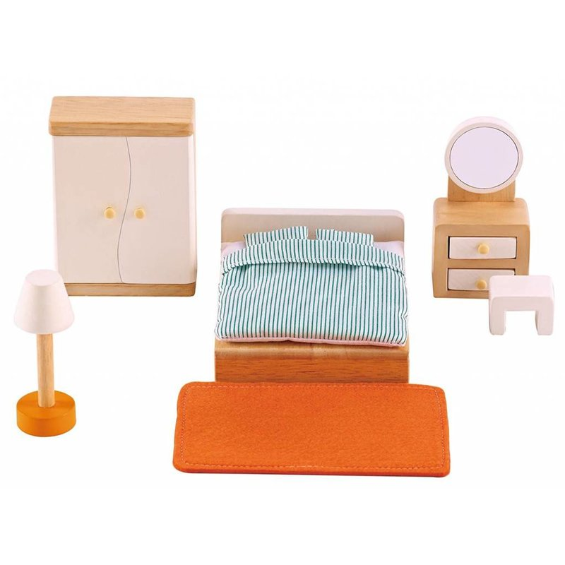 Hape Toys Hape Wooden Doll House Furniture: Master Bedroom