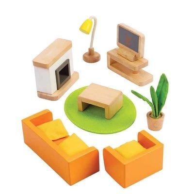 Hape Toys Hape Wooden Doll House Furniture: Media Room