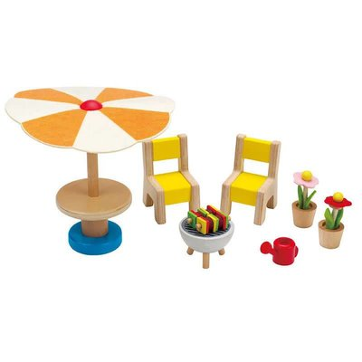 Hape Toys Hape Wooden Doll House Furniture: Patio Set