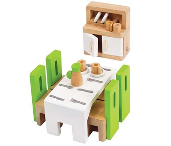 Hape Wooden Doll House Furniture: Dining Room