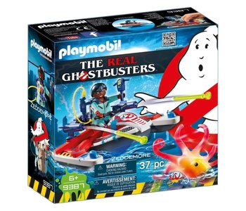 Playmobil The Real Ghostbusters Zeddemore with Aqua Scooter
