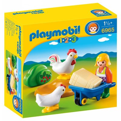 Playmobil Playmobil 123 Girl with Hens disc