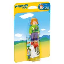 Playmobil Playmobil 123 Woman with Cat disc