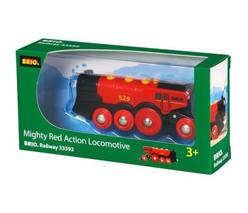 Brio World Train Mighty Red Locomotive