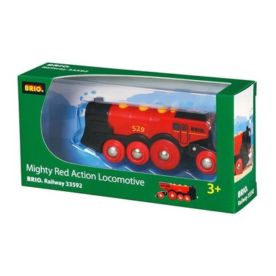 Brio Brio World Train Mighty Red Locomotive