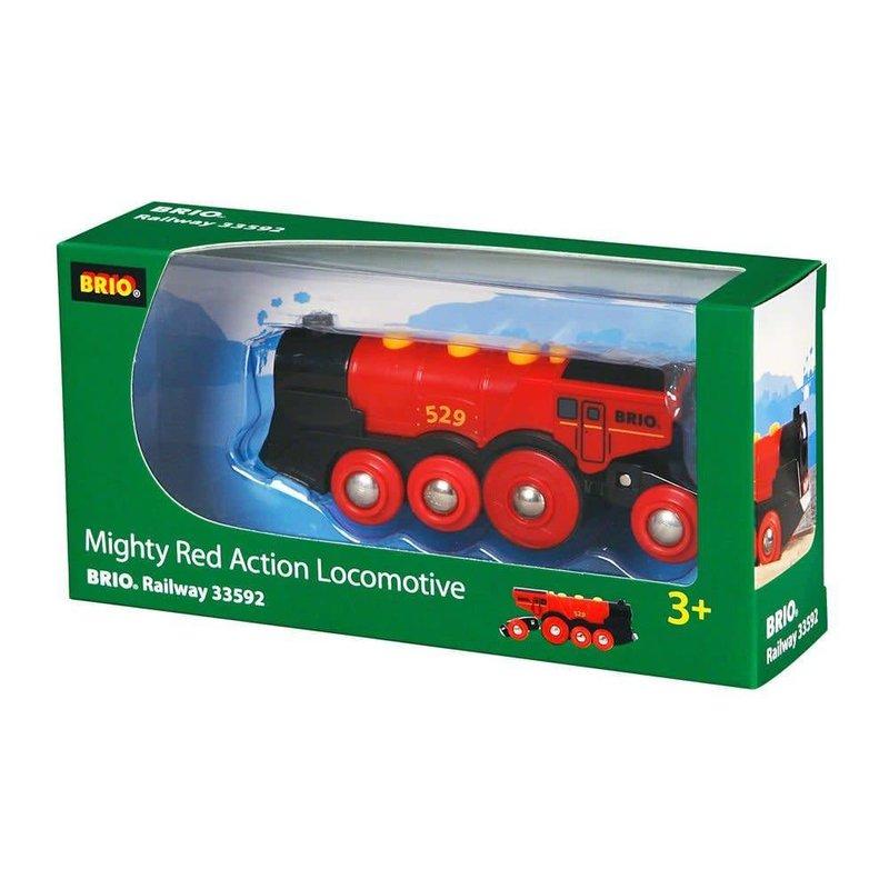 Brio Brio World Train Mighty Red Locomotive