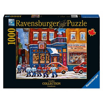 Ravensburger Ravensburger Puzzle 1000pc Canadian Bagel & Hockey